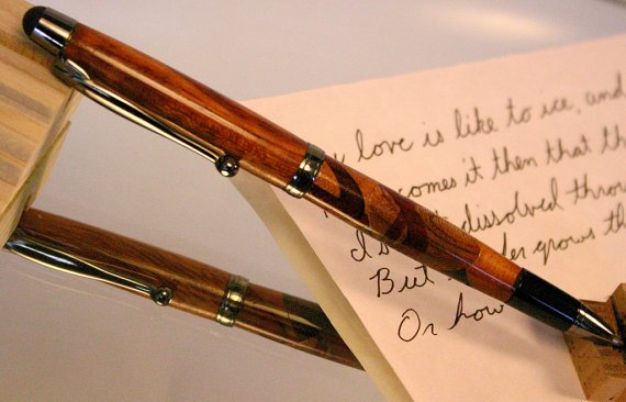Stylus Pen Combo handcrafted slimline abstract by HopeAndGracePens