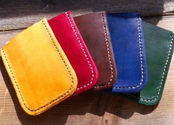 Hand-Cut Cowhide Business Card Cases-Made In USA
