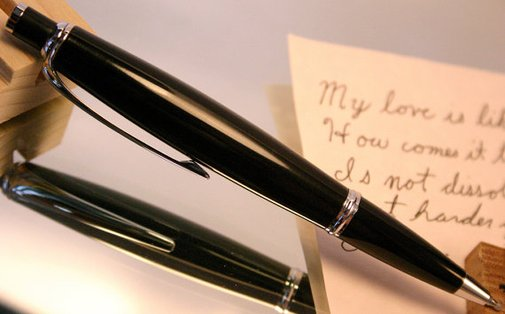COAL Pen handcrafted click pen made from real by HopeAndGracePens