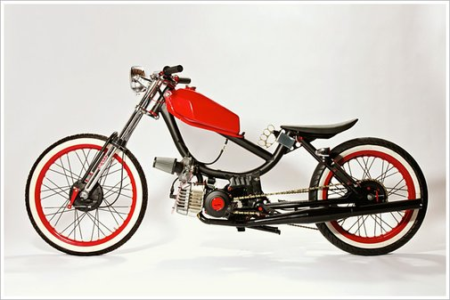 "MotoMatic's '78 Sears Free Spirit - ""Yuba 2"" - Pipeburn - Purveyors of Classic Motorcycles, Cafe Racers & Custom motorbikes"
