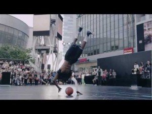 Jus Fly Awesome Dunk at LA Live (Nike+ Basketball)