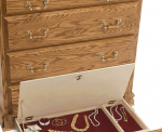 Wooden Chest with Secret Lockable Drawer   StashVault
