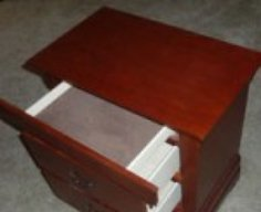 Nightstand with Hidden Drawer Compartment