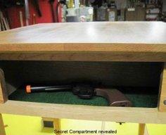 Secret Gun Compartment in Table