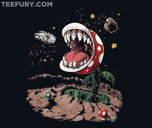 Star Wars/Super Mario Mash-Up T-Shirt