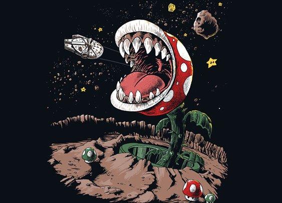 Star Wars/Super Mario Mash-Up T-Shirt