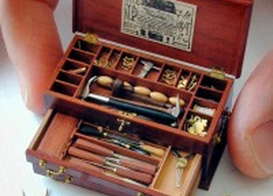 Tiny Scale Replica of an 18th Century Tool Chest