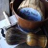 Dirty Deeds Soaps & Bath Accessories - Handmade Soaps of Lubbock / Brown Shaving Mug Set, Badger Brush & Razor