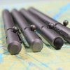 Titanium bolt-action pen with capacitive stylus nib heads for mass production