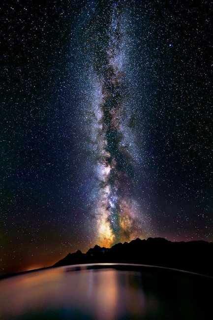 Milky Way over Titicaca, Peru