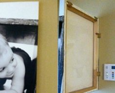Hinged Canvas Hides Your Alarm Panel