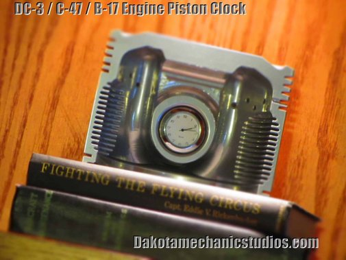 Authentic DC 3 C 47 B 17 Wright R 1820 Airplane Engine Half Piston Clock | eBay