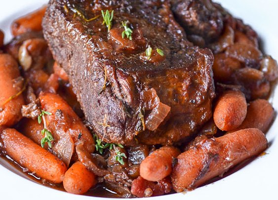 Pot Roast with Thyme-glazed Carrots