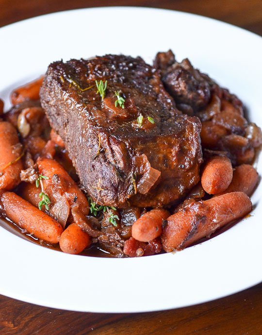 Dinner Recipe:  Individual Pot Roasts with Thyme-Glazed Carrots    Recipes from The Kitchn | The Kitchn