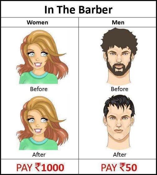 Men vs Women In Barber Shop