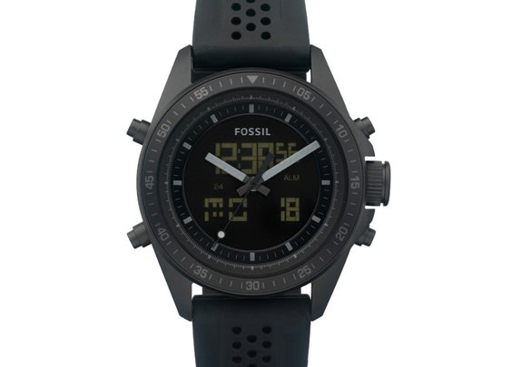 FOSSIL® Watch Styles Sport Watches:Watch Styles Decker Digital Silicone Watch - Black BQ9414