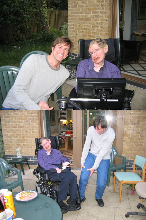 Jim Carey Meets Steven Hawking