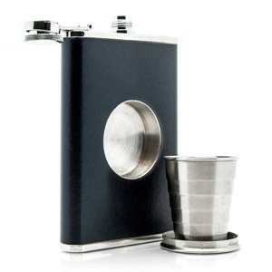 Shot Flask - Flask with Built-In Collapsible Shot Glass - The Green Head