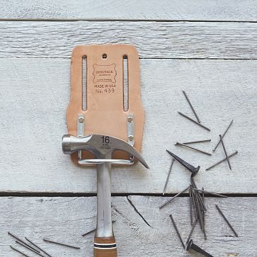 Heritage Leather Hammer + Hatchet Holder | west elm
