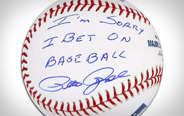 Pete Rose Apology Autographed Baseball | Uncrate