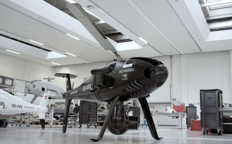 The Schiebel CAMCOPTER® S-100 / Cineflex Integration with Brain Farm and SnapRoll on Vimeo