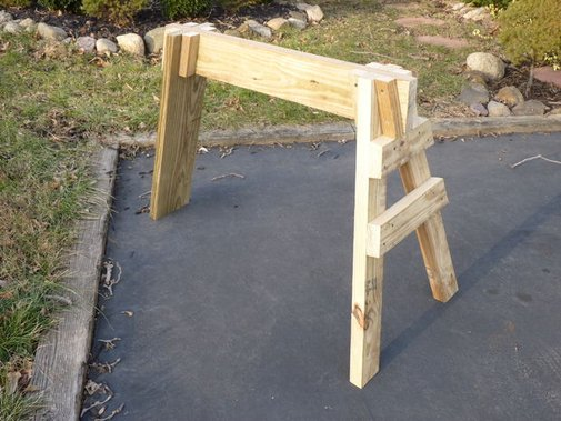 Three-Legged Knock-Down Sawhorse