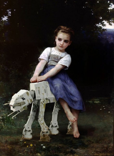 """La Bourrique"" Girl and Her Imperial AT-AT"