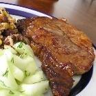 Leftover Rib Steak with Horseradish Butter