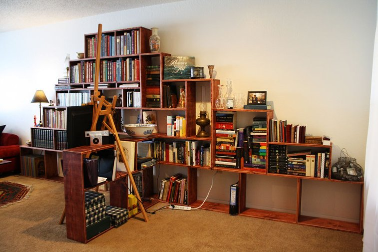 How to make a bookshelf mountain!