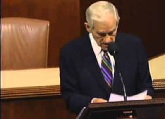 Congressman Ron Paul's Farewell Speech to Congress - YouTube