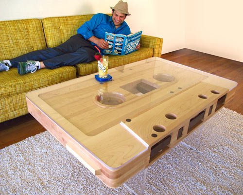 Cool cassette coffee table - hehe.