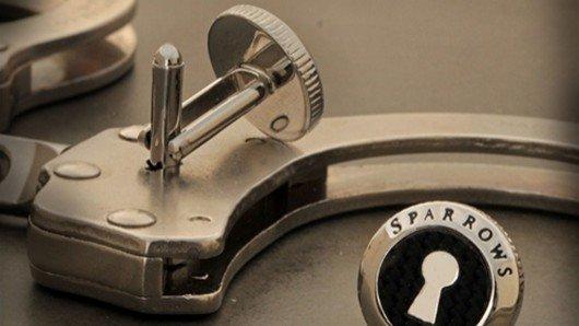 Uncuff Links close French cuffs, open handcuffs