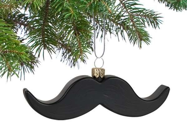 Hairy Holiday Ornaments - The Twitchy Mustache Ornaments Make Adorable Snowman Faces