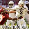 Johnny Manziel for Heisman....first college football freshman to have 3000 passing yards and 1000 rushing yards in one season.