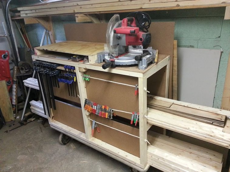 Lumber Storage Cart