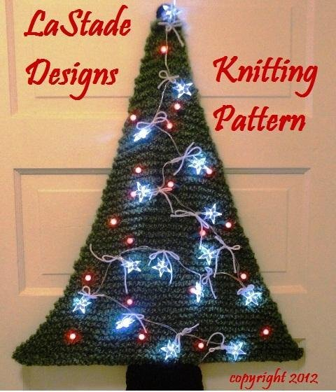 Lighted Christmas Tree Door Decoration from LaStade