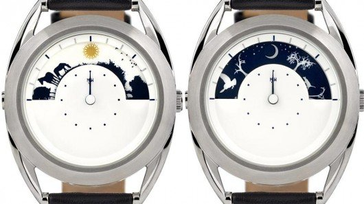 Sun and Moon Watch tells time with movement of celestial bodies