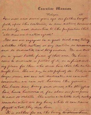 Happy Birthday Gettysburg Address