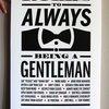 Rules to always being a gentlemen