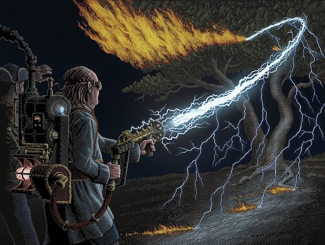 Steam Patriots: Benjamin Franklin with Lightning Gun