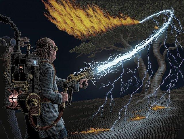 Steam Patriots: Benjamin Franklin with Lightning Gun