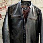 Black Rivet Cycle Jacket by Wilsons Leather   Primer