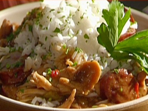 Chicken and Smoked Sausage Gumbo with White Rice Recipe : Emeril Lagasse : Recipes : Food Network