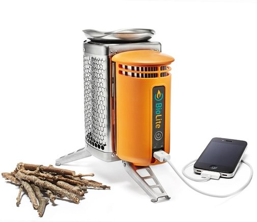 BioLite CampStove (with USB port that charges your smartphone or tablet with fire)