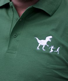 Run Humans polo