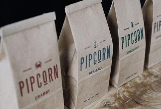 incredible packaging | Pipcorn packaging designed by Freddy Taylor and Noah Collin.