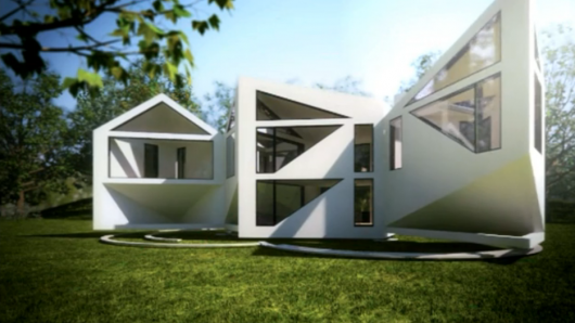 Transforming house turns inside out for summer, has 8 configurations