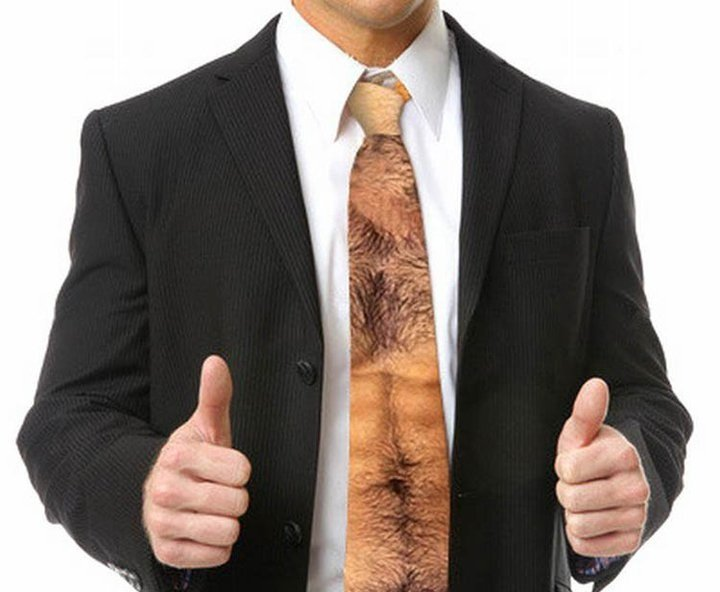 Boss asked for a new tie for christmas, found it.