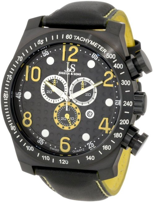 Joshua & Sons Men's JS714YL Chronograph Stainless Steel Sports Watch #Jewelry #Watches