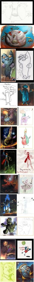 Children's Art Drawn Realistically.